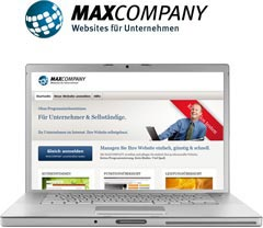 MAXCOMPANY Websites Homeoages